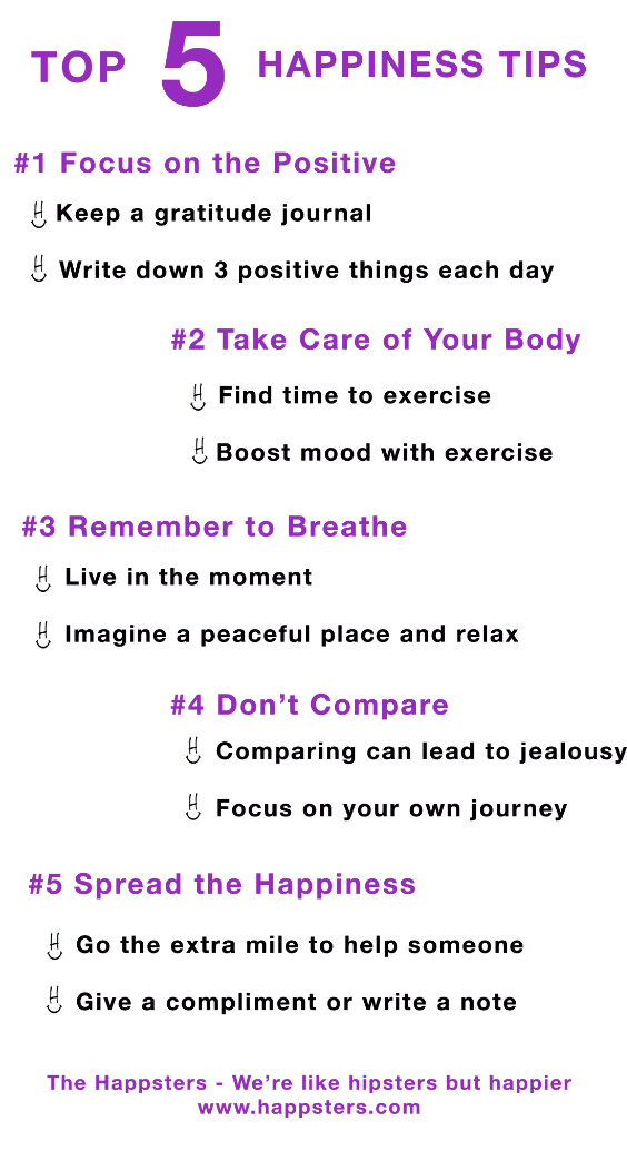 Top 5 Happiness Tips