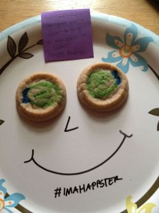 Cookie Smiley Happy Note
