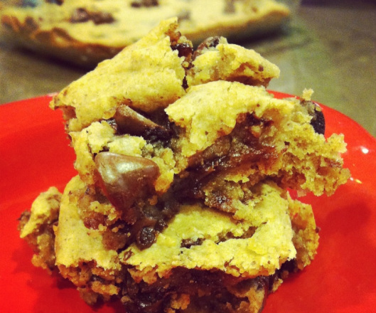 Secret Ingredient Chocolate Chip Blondies