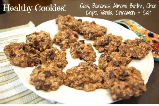 Guilt-free Oatmeal Banana Cookies
