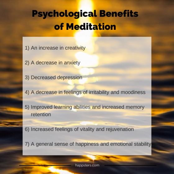 Psychological Benefits of Meditation