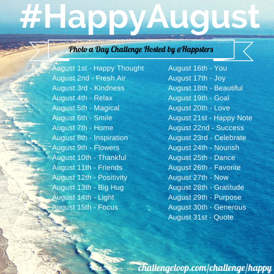 #HappyAugust Happsters Challenge