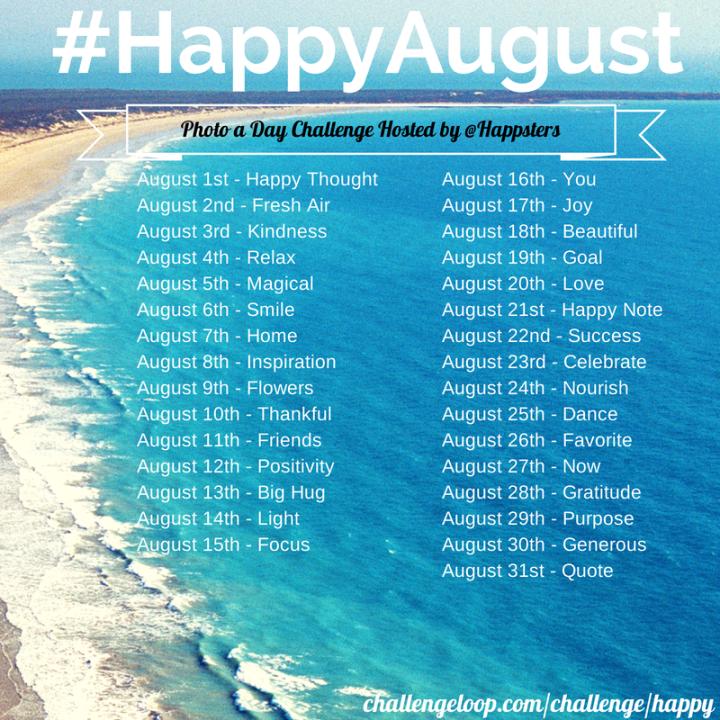 #HappyAugust Happsters Challenge