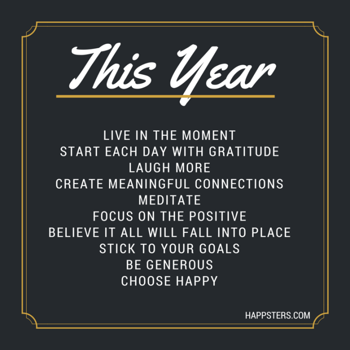 2015 New Years Resolutions - Happy Quote