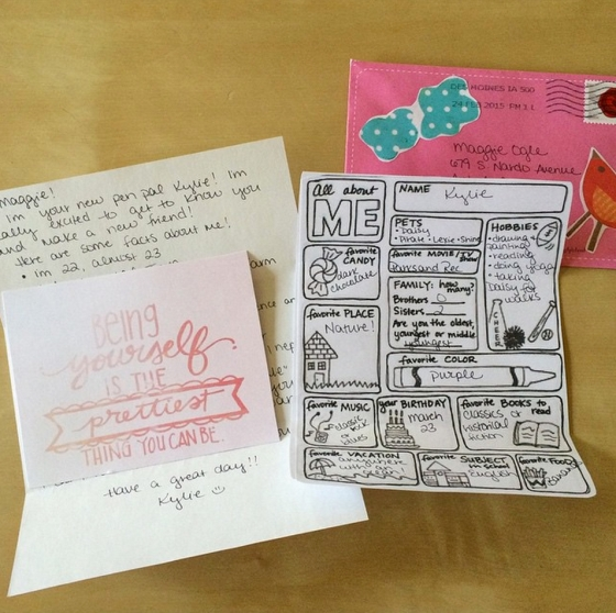HappsterMail from Kylie to @tinymu